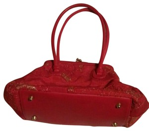 Paradox Silk Satchel in Red