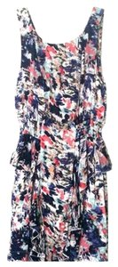 Cloud Nine short dress Pink and blue multi Peplum Floral Summer on Tradesy