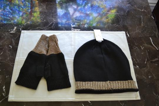 Other Skull Beanie and Matching Open Hand Gloves