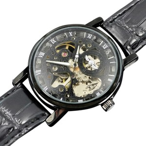 MCE Popular 2014 Automatic Skeleton Watch With Black Face-FREE SHIPPING