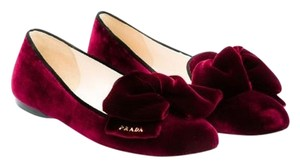 Prada Patent Leather Ballerina Bordeaux (Wine / Burgundy) Flats