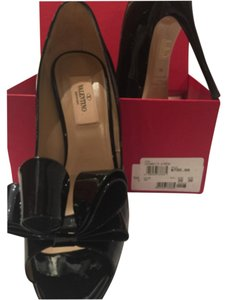 Valentino Black Patent Leather Platforms