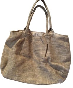 The Royal Standard Tote in Beige with gold