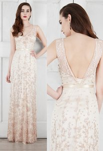 BHLDN Tea Rose Yvie By Catherine Dean Feminine Wedding Dress Size 2 (XS)