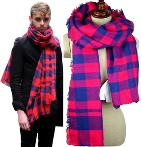 Other NWOT Red and Navy Plaid Scarf