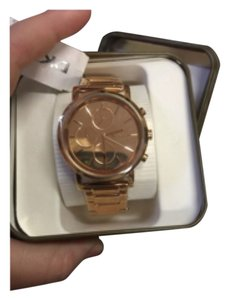 DKNY New DKNY Lexington Chronograph Rose Dial Rose Gold-plated Ladies Watch NY8862