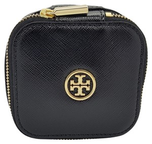 Tory Burch Tory Burch Leather Jewerly Pouch Case Black