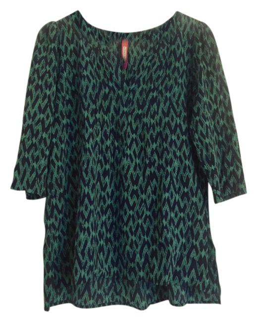 Preload https://img-static.tradesy.com/item/11363836/plenty-by-tracy-reese-green-and-navy-print-split-neck-blouse-size-4-s-0-1-650-650.jpg