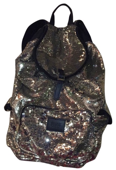 Item - Silver and Black Sequin Backpack