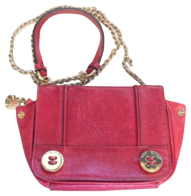 MILLY Red Leather Cross Body Bag MILLY Red Leather Cross Body Bag Image 1