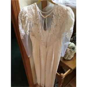 Christiana Ivory Chiffon Retro Wedding Dress Size 10 (M)