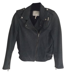 Maje grey/green Leather Jacket