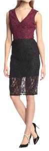 A.B.S. by Allen Schwartz Wine Lace Sheath Dress