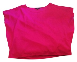 Forever 21 Flowy Party Flutter Sleeves Top Fushia