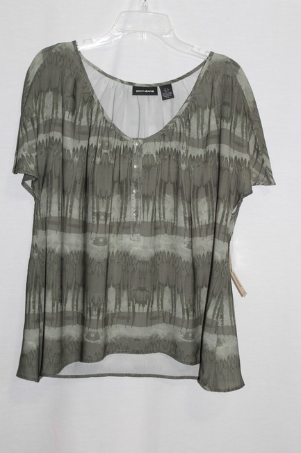 DKNY Top Forest Green