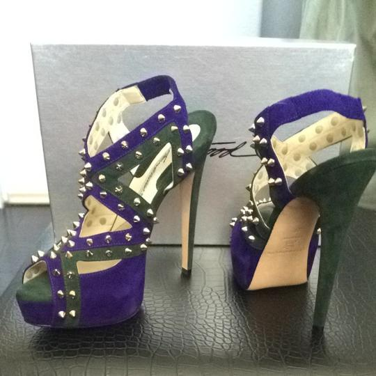 Brian Atwood Purple Platforms