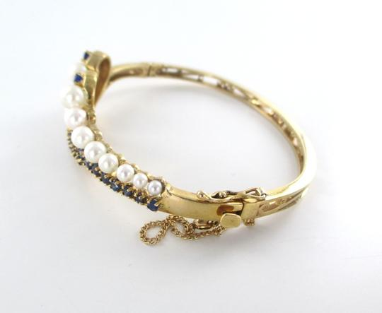 Other 14KT Solid Yellow Gold Bracelet with Pearls and Sapphires