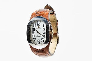 Bertolucci Bertolucci Stainless Steel Brown Crocodile Leather Serena Watch
