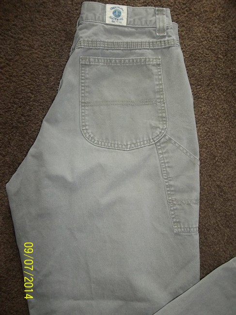 Riders by Lee Multi Pockets Size 12 Roomy Comfortable Carpenter Pants Khaki Olive