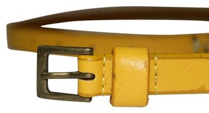 Vine & Thistle Vine & Thistle Mustard Yellow Leather Belt