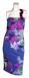 Karen Millen Sexy Floral Multi Color Dress