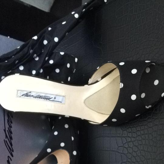 Brian Atwood Black And White Sandals