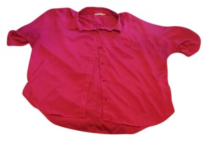 Old Navy Pink Front Pocket Collar Button Down Shirt Fushia