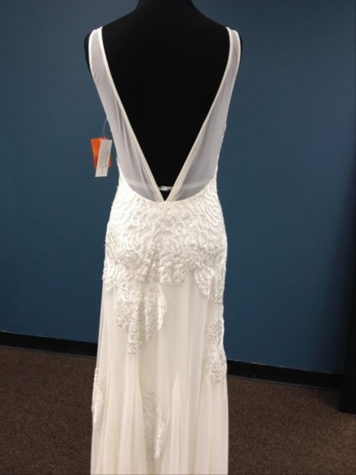 2ab513c242 Sue Wong Ivory Chiffon Wedding Dress Size 8 (M) Image 4. 12345