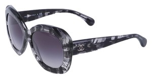 Chanel New Authentic CHANEL 5323 Black Butterfly Tweed Pattern Signature Collection 2015 Sunglasses RETAIL $435