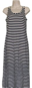 Blue and white Maxi Dress by silvergate