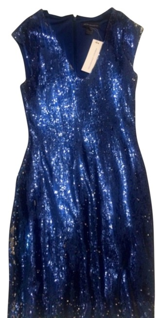 French Connection Blue Sequin Mid-length Night Out Dress Size 4 (S) French Connection Blue Sequin Mid-length Night Out Dress Size 4 (S) Image 1
