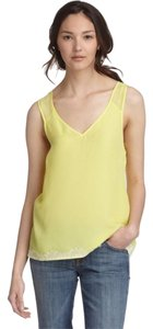 BCBGeneration Lace Loose Fit Bcbg Yellow Top Limelight