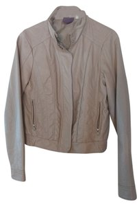 Francesca's Faux Leather Bomber Motorcycle Light pink Leather Jacket