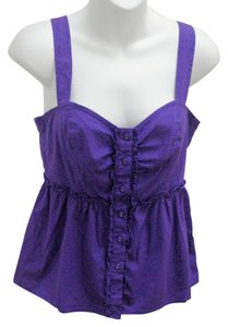 Odille Empire Waist Smocked Detail Top Purple