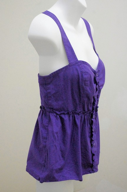 Odille Empire Waist Smocked Detail Top Purple Image 1