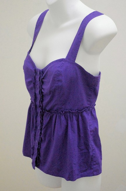 Odille Empire Waist Smocked Detail Top Purple Image 2