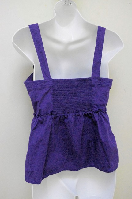 Odille Empire Waist Smocked Detail Top Purple Image 3
