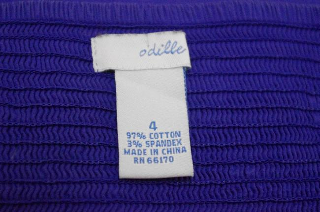 Odille Empire Waist Smocked Detail Top Purple Image 4