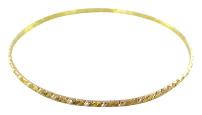 Gold 10kt Solid Yellow Bangle Bracelet Gold 10kt Solid Yellow Bangle Bracelet Image 1