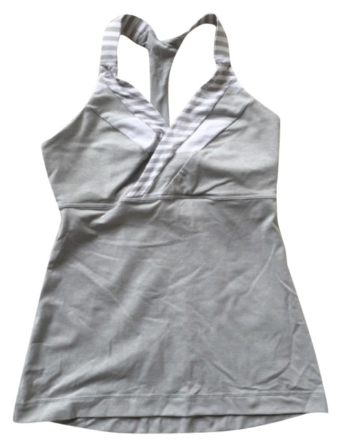 Item - Gray and White Activewear Top Size 6 (S, 28)