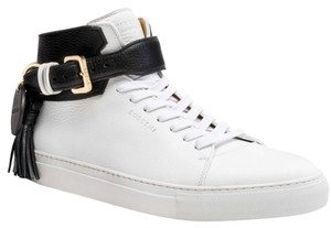 Buscemi White with Black adjustable side strap with tassel Athletic