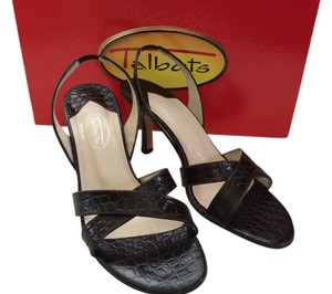 Talbots Leather Leather Made In Italy Brown, Cocoa Sandals