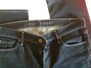 Citizens of Humanity Wide Mild Straight Leg Jeans-Dark Rinse
