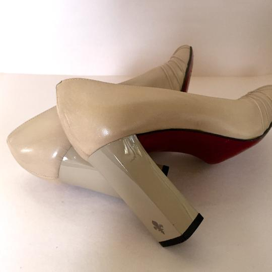 Patrick Cox Sexy Red Soles Vintage taupe Pumps Image 3