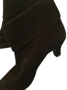 Ralph Lauren Collection Suede Low Heeled Classy Black Boots