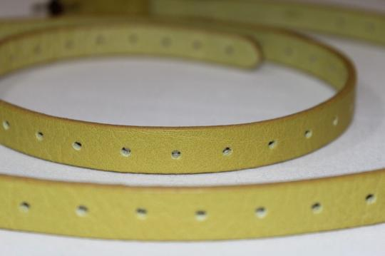 J.Crew J. Crew Yellow Genuine Italian Leather Belt