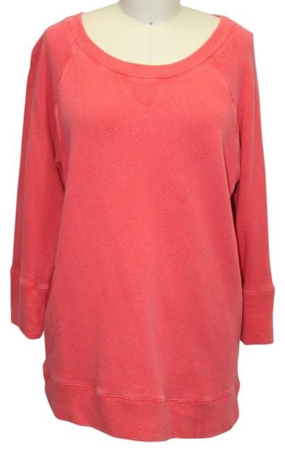 Preload https://img-static.tradesy.com/item/1136912/jcrew-coral-34-sleeve-sweatshirt-small-cotton-sweaterpullover-size-4-s-0-0-650-650.jpg