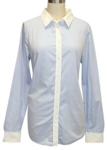 Gap Colorblock Button-up Longsleeve Shirt Button Down Shirt Blue