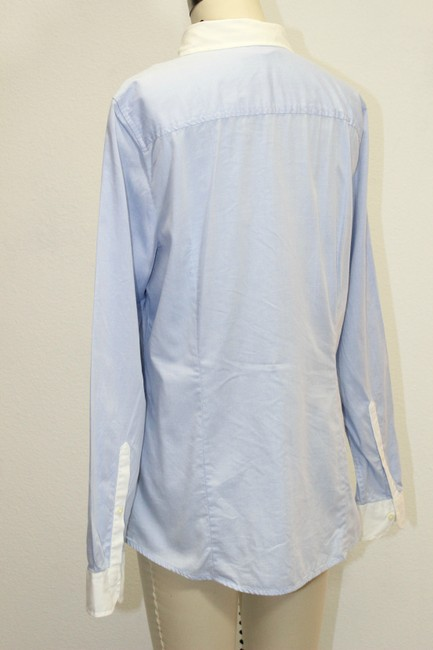 Gap Colorblock Longsleeve Shirt Button Down Shirt Blue
