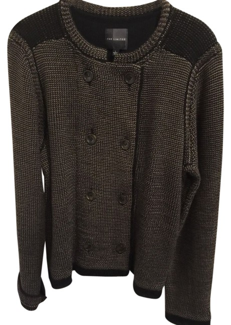 Preload https://img-static.tradesy.com/item/11369614/the-limited-brown-and-black-double-breasted-knit-sweater-blazer-miltary-jacket-size-14-l-0-1-650-650.jpg